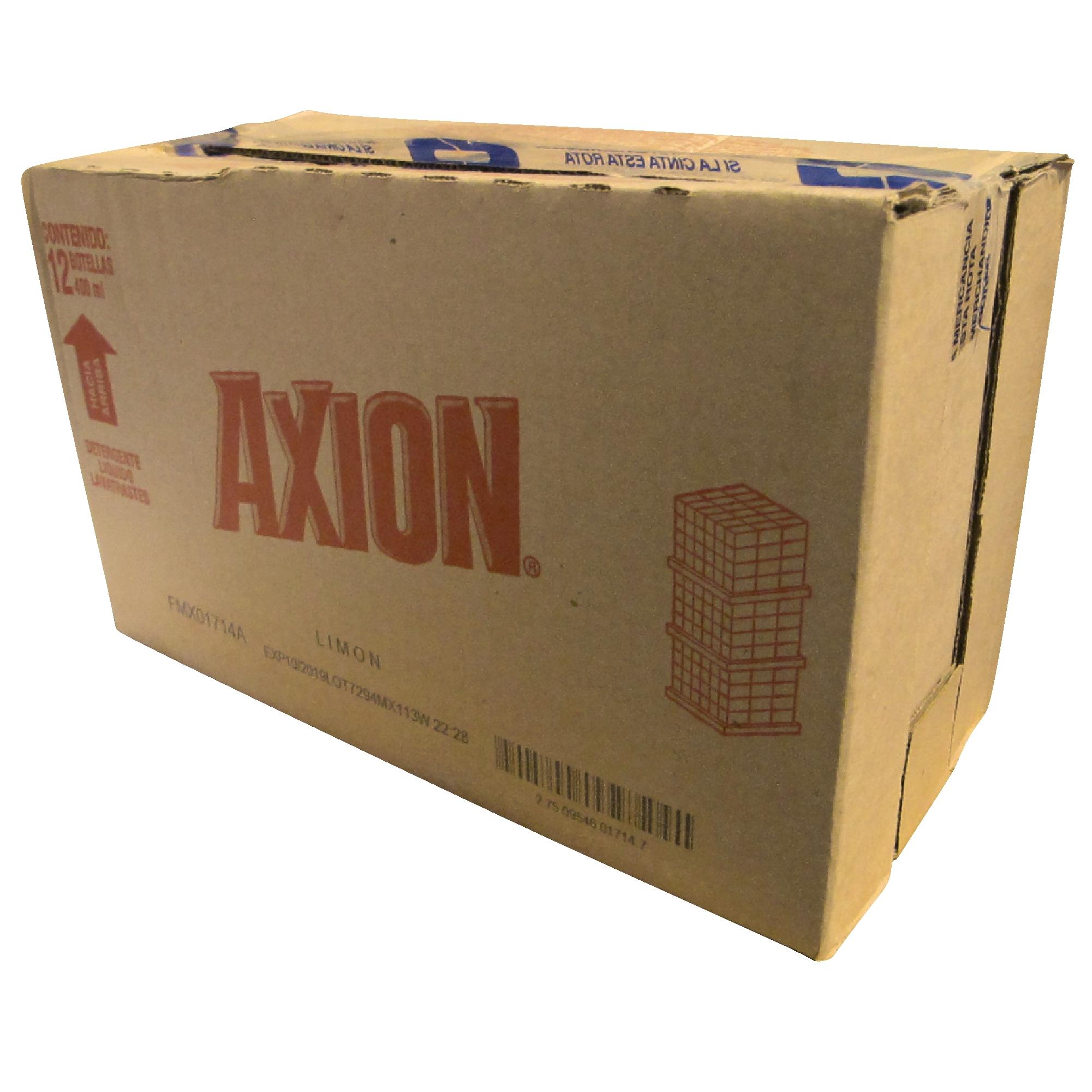 Caja con 12 botes con líquido lavatrastes AXION de 400ml 2