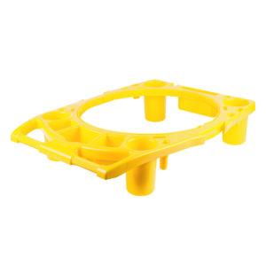 Rubbermaid FG9W8700YEL Borde Caddy color amarillo, para organizar utensilios de limpieza alrededor del contenedor brute 44 galones