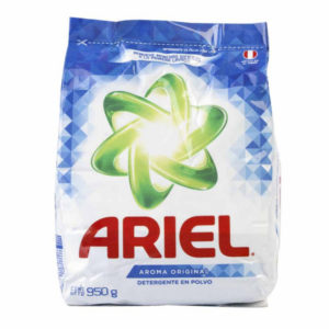 Detergente en polvo ARIEL 950 gr