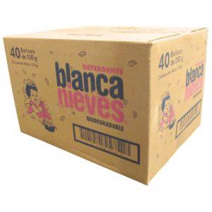 Paquete con 40 bolsas de detergente en polvo BLANCA NIEVES con 250gr
