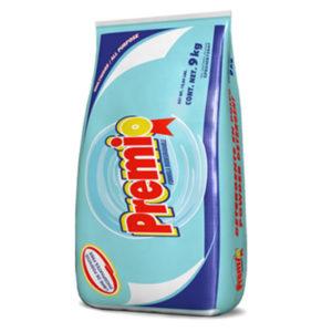 Detergente en polvo PREMIO blanco 9kg
