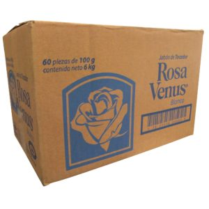 Caja con 60 Jabones ROSA VENUS de 100 g