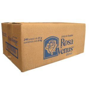 Caja con 240 jabones ROSA VENUS de 25 g