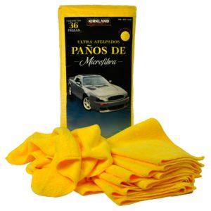 Paquete de paños color amarillo marca kirkland