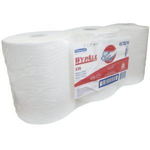 Kimberly Clark 1412-X70 WyPall 41702-2 toalla en rollo color blanca Workhorse, paquete con 3 rollos de 825 hojas cada uno