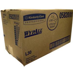 Kimberly Clark 1451-L30 WyPall 05820-01 toalla en rollo color blanca Workhorse, caja con 2 rollos de 300 hojas cada uno