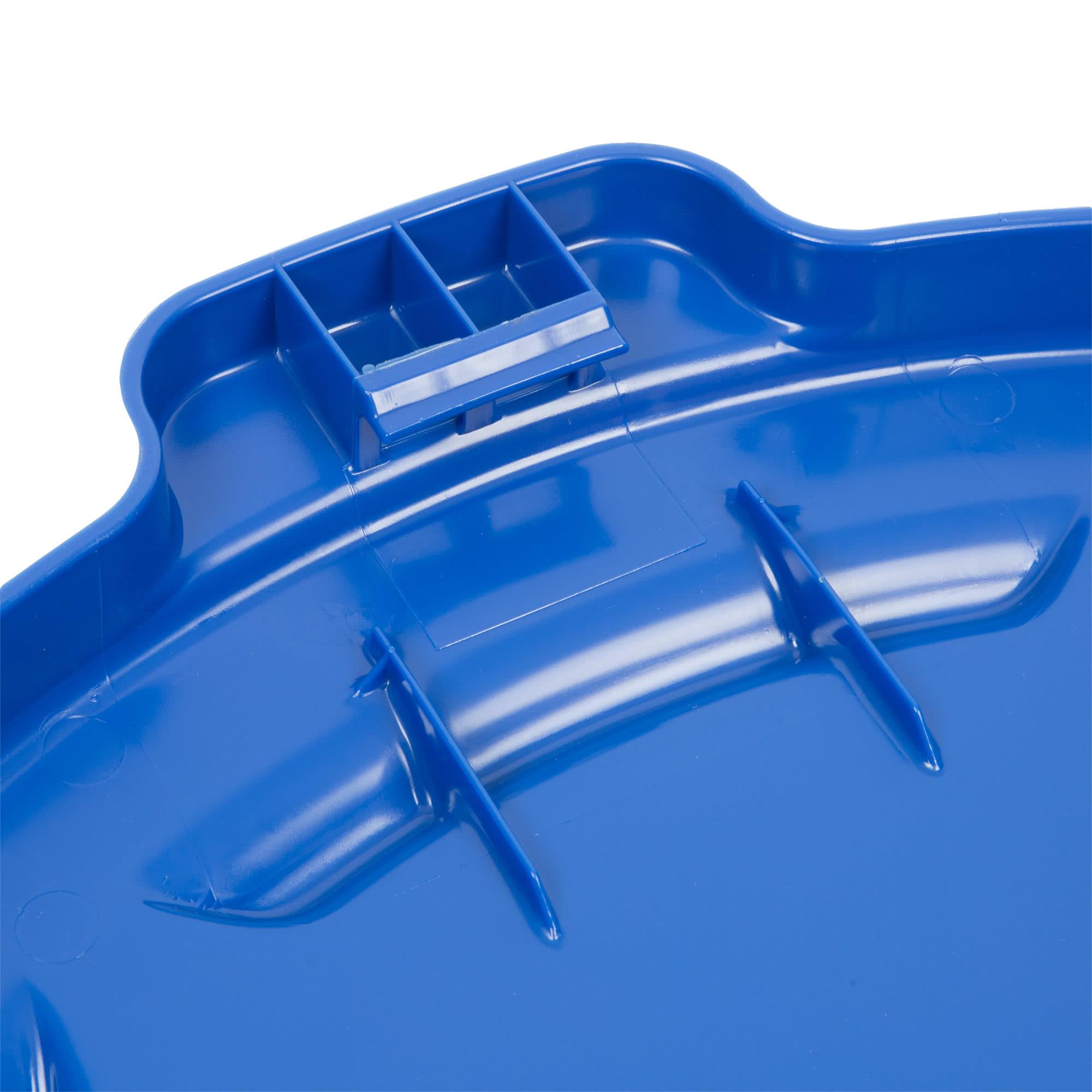 Rubbermaid 1779636 tapa Brute autodrenable color azul, aplica contenedor Brute de 44 galones           3