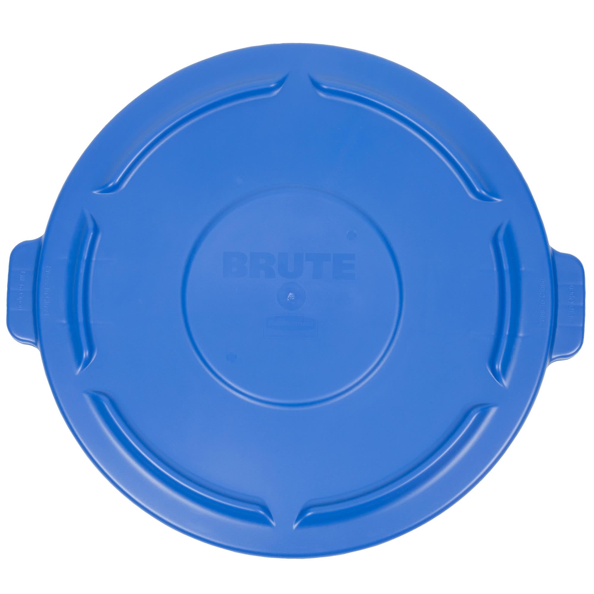Rubbermaid 1779636 tapa Brute autodrenable color azul, aplica contenedor Brute de 44 galones           1