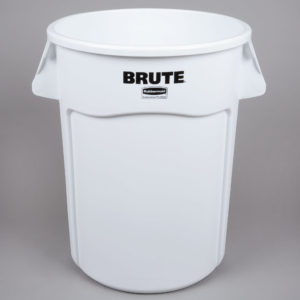 Rubbermaid 1779740 contenedor Brute color blanco con capacidad para 44 galones
