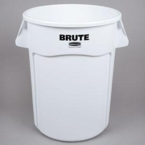 Rubbermaid 1779740 contenedor Brute color blanco con capacidad para 44 galones