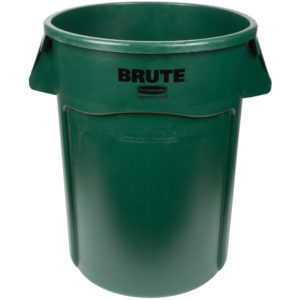 Rubbermaid 1779741 contenedor Brute color verde con capacidad para 44 galones