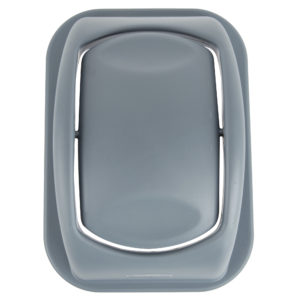 Rubbermaid 1779742 tapa untouchable soft abatible color gris, aplica contenedor FG295600 de 7 galones