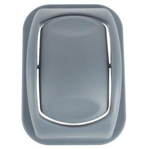 Rubbermaid 1779742 tapa untouchable soft abatible color gris, aplica contenedor FG295600 de 7 galones
