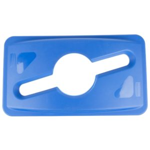 Rubbermaid 1788372 tapa Slim jim color azul para reciclaje mixto, aplican contenedores Slim-jim