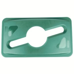 Rubbermaid 1788373 tapa Slim jim color verde para reciclaje mixto, aplican contenedores Slim-jim
