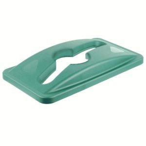 Rubbermaid 1788373 tapa Slim jim color verde para reciclaje mixto, aplican contenedores Slim-jim