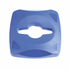 Rubbermaid 1788374 tapa untouchable color azul para reciclaje mixto, aplica contenedor FG356900
