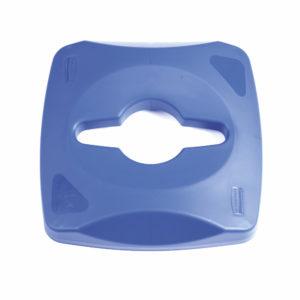 Rubbermaid 1788374 tapa untouchable color azul para reciclaje mixto, aplica contenedor FG356900