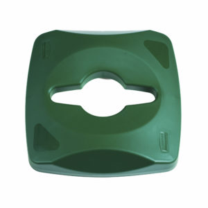 Rubbermaid 1788375 tapa untouchable color verde para reciclaje mixto, aplica contenedor FG356900