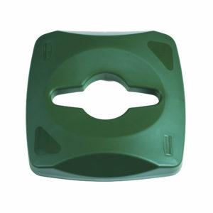 Rubbermaid 1788375 tapa untouchable color verde para reciclaje mixto, aplica contenedor FG356900