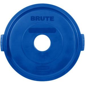 Rubbermaid 1788376 tapa Brute color azul para reciclaje de botellas, aplica contenedor Brute de 32 galones