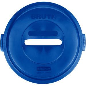 Rubbermaid 1788378 tapa Brute color azul para reciclaje de papel, aplica contenedor Brute de 32 galones