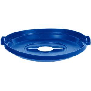 Rubbermaid 1788380 tapa Brute color azul para reciclaje mixto, aplica contenedor Brute de 32 galones