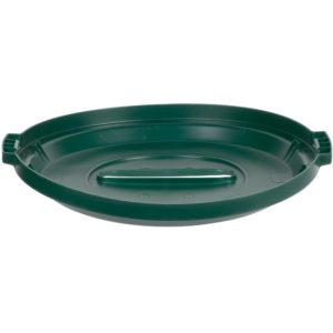 Rubbermaid 1788379 tapa Brute color verde para reciclaje de papel, aplica contenedor Brute de 32 galones