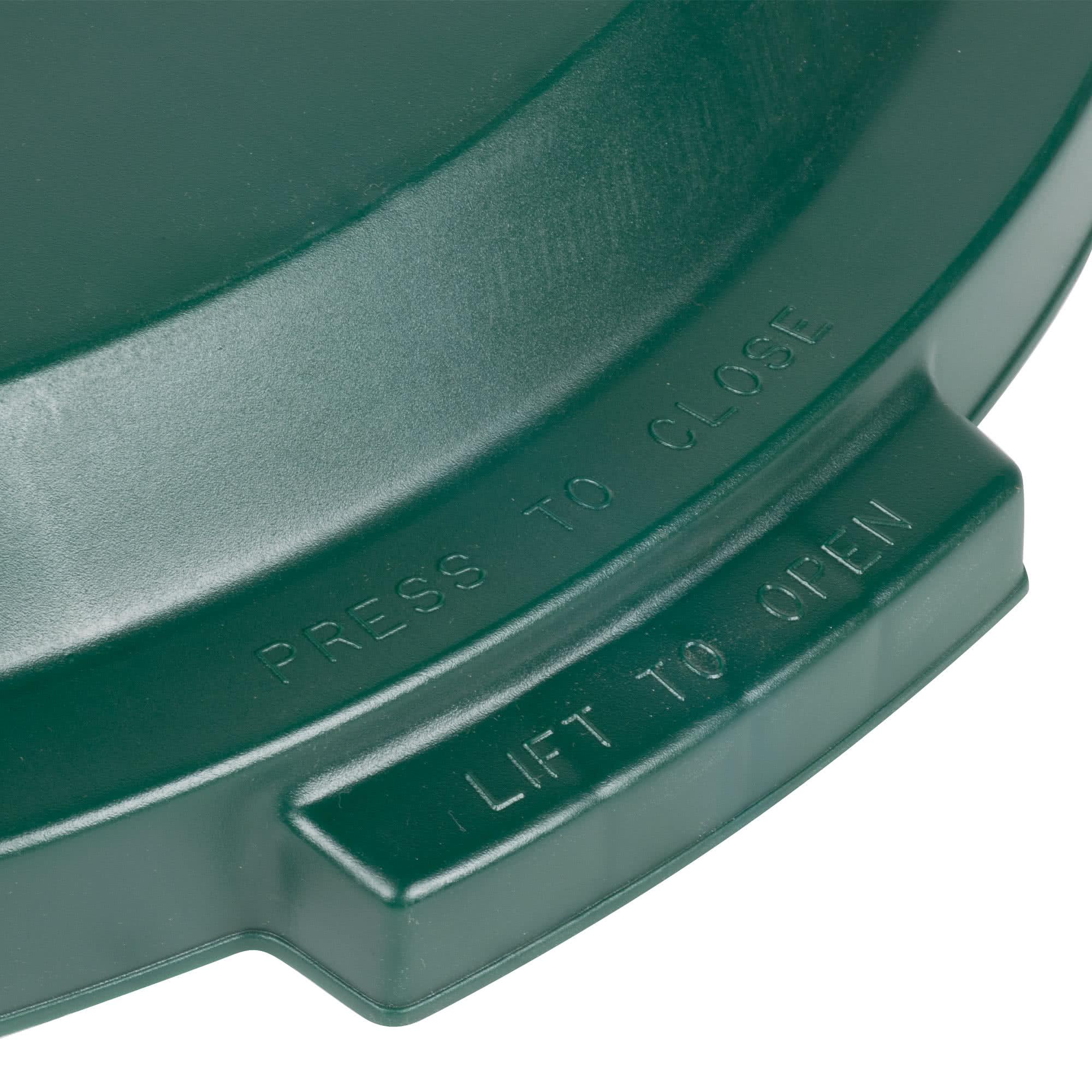 Rubbermaid 1788379 tapa Brute color verde para reciclaje de papel, aplica contenedor Brute de 32 galones      3