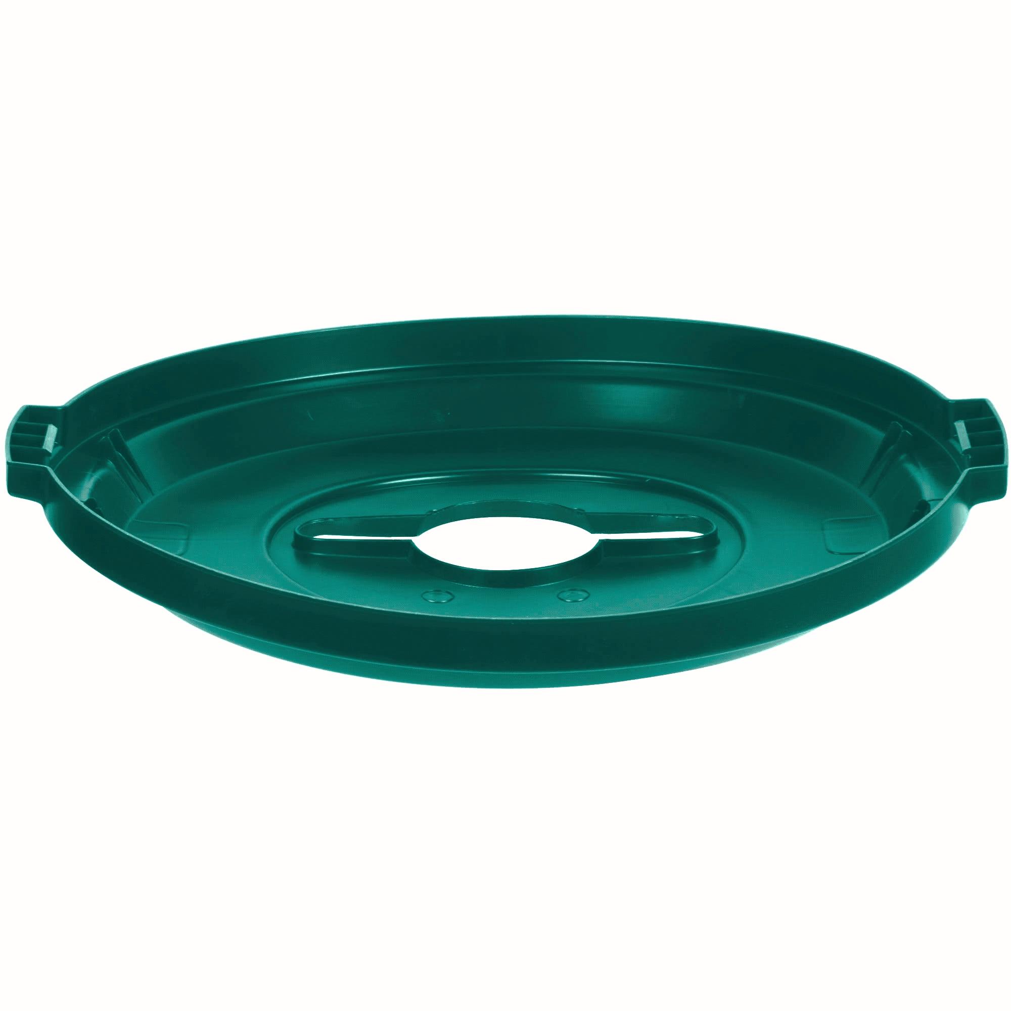 Rubbermaid 1788471 tapa Brute color verde para reciclaje mixto, aplica contenedor Brute de 32 galones 2