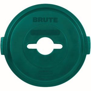 Rubbermaid 1788471 tapa Brute color verde para reciclaje mixto, aplica contenedor Brute de 32 galones