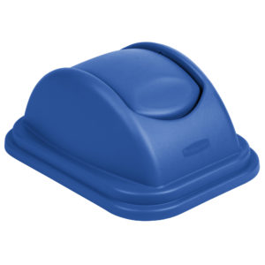 Rubbermaid 1829407 tapa untouchable soft abatible color azul, aplica contenedor FG295773 de 10 galones