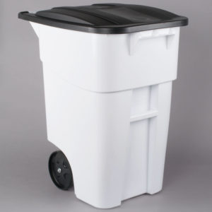Rubbermaid 1829410 contenedor brute roll-out con capacidad  para 50 galones, color blanco
