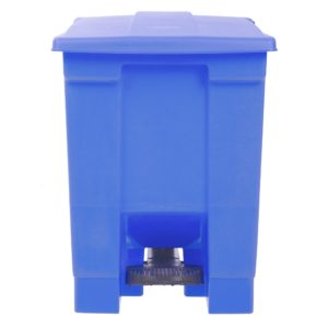 Rubbermaid 1829416 basurero front Step-on con capacidad para 12 galones, color azul con pedal