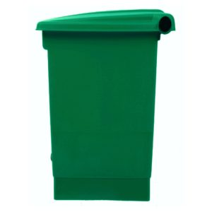 Rubbermaid 1829417 basurero front Step-on con capacidad para 12 galones, color verde con pedal