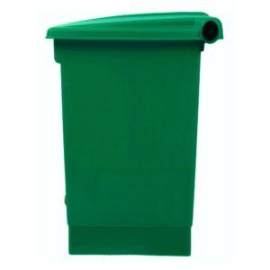 Rubbermaid 1829417 basurero front Step-on con capacidad para 12 galones, color verde con pedal