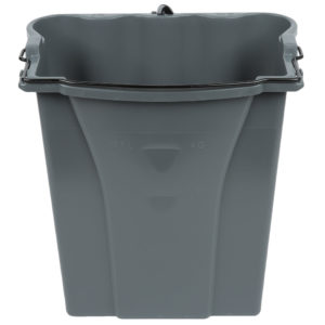 Rubbermaid 1863900 cubeta color gris recolectora de agua negra para Wave Brake