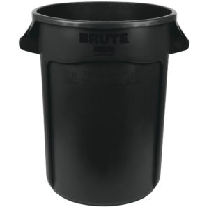 Rubbermaid 1867531 contenedor Brute color negro con capacidad para 32 galones