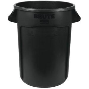 Rubbermaid 1867531 contenedor Brute color negro con capacidad para 32 galones