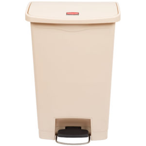 Rubbermaid 1883458 basurero Slim-jim front Step-on con capacidad para 13 galones, color beige con pedal