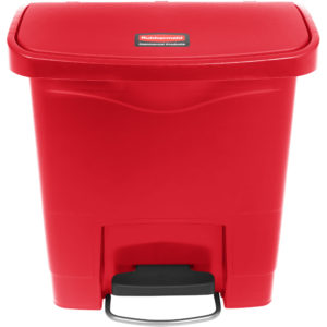 Rubbermaid 1883563 basurero Slim-jim front Step-on con capacidad para 4 gal, color rojo con pedal