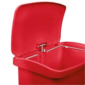 Rubbermaid 1883566 basurero Slim-jim front Step-on con capacidad para 13 gal, color rojo con pedal