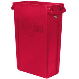 Rubbermaid1956189 contenedor Slim-jim con capacidad para 23 galones, color rojo
