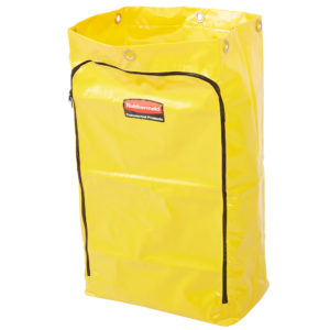 Rubbermaid 1966719 Bolsa de vinil color amarillo, con capacidad para 24 galones, aplica en carritos de limpieza