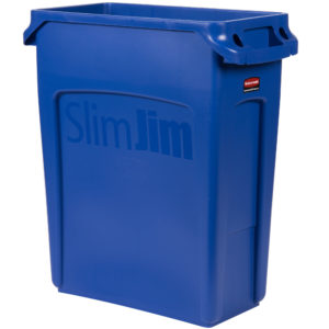 Rubbermaid 1971257 contenedor Slim-jim con capacidad para 16 galones, color azul