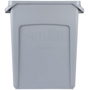 Rubbermaid 1971258 contenedor Slim-jim con capacidad para 16 galones, color gris