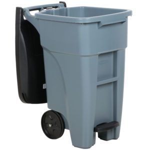 Rubbermaid 1971944 contenedor brute roll-on step-on con capacidad para 32 galones, color gris