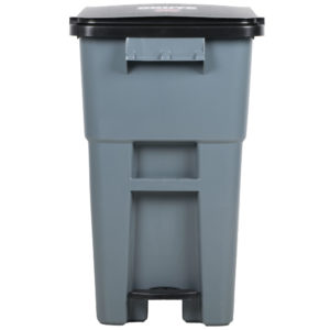 Rubbermaid 1971956 contenedor brute roll-out step-on con capacidad para 50 galones, color gris