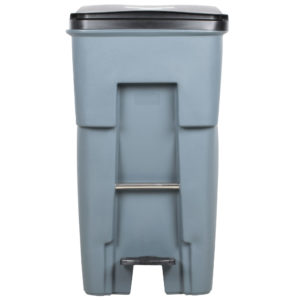 Rubbermaid 1971968 contenedor brute roll-out step-on con capacidad para 65 galones, color gris