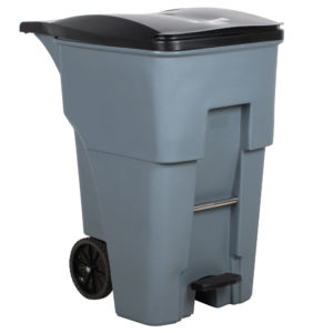 Rubbermaid 1971991 BRUTE contenedor brute roll-out step-on con capacidad para 95 galones, color gris